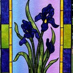 Stained Glass Irises