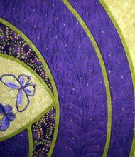 Butterflies In Flight Detail of embroidery
